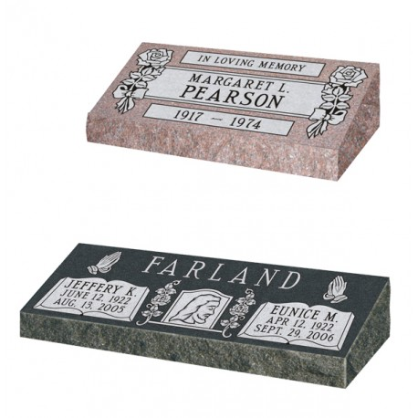 BEVELED (PILLOW) GRANITE MARKER (COM-BGM1)