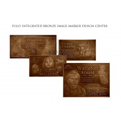Memorial Fully Integrated Bronze Image Marker (COM-BZM6)