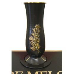 Sculptured Rose Bronze Vase (COM-BV8)