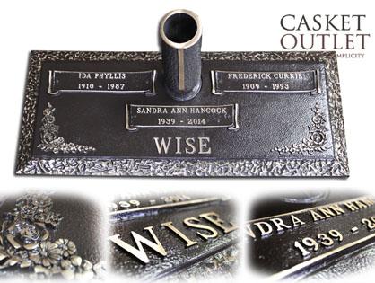 Double Graves Bronze Marker